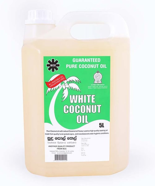 BCC White Coconut oil 05 L Can